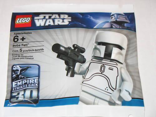 NEW LEGO STAR WARS Weiß BOBA FETT MINIFIGURE - SEALED POLYTasche