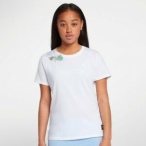 7c27042349e661 Converse Wmns Essentials Rib Print Tee New White Multicolor T-Shirt ...