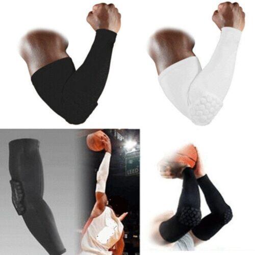 Honeycomb Arm Pad Crashproof Basketball Football Shooting Sleeves Elbow Support