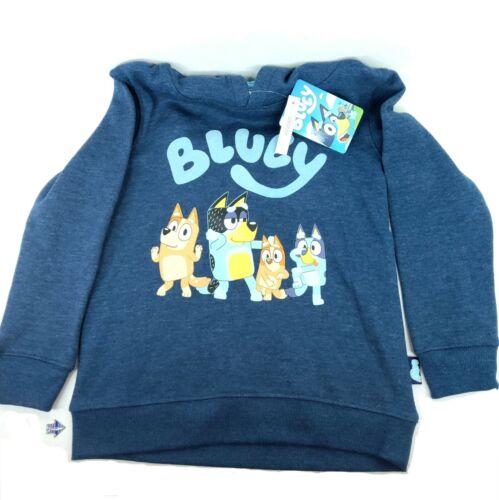 Bluey Half-Zip Hoodie Blue