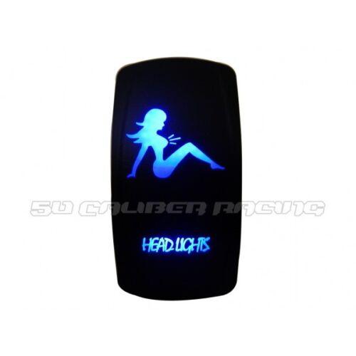 Head Lights Blue Rocker Switch On//Off for Can Am Maverick Commander Polaris UTV