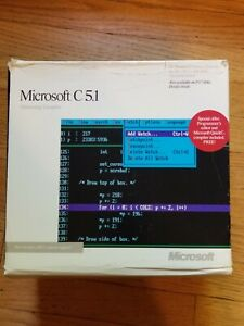 Details about Microsoft C Compiler 5 1