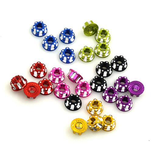 4PCS M4 Carving Nuts Hex Lock Nuts Hexagonal Nuts for RC Model HSP Sakura D3 D4