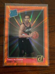 2018-19 Panini Donruss Rated Rookie Holo Orange Laser Gary Trent Jr. Portland RC