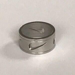 Nike Swoosh Stainless Steel Ring Silver Ebay