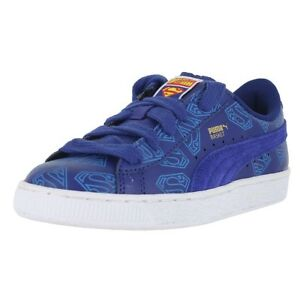 fe3ffe0d7a39 PUMA BIG KIDS BASKET SUPERMAN JR SODALITE BLUE 358861 01 KIDS US ...