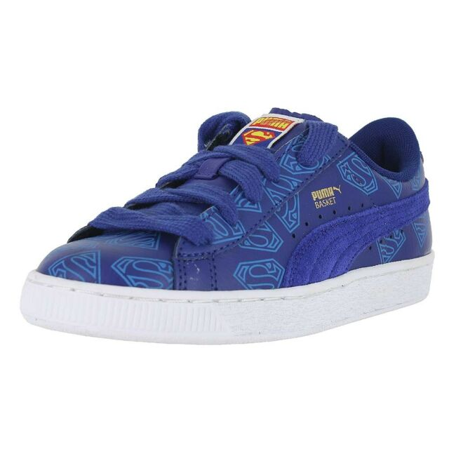 3363880f1a6 PUMA BIG KIDS BASKET SUPERMAN JR SODALITE BLUE 358861 01 KIDS US SIZES