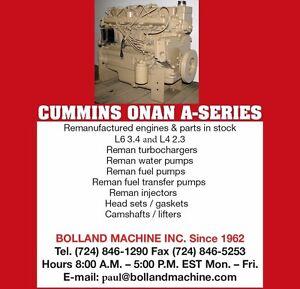 Details about Cummins Onan - A - Series Rebuild Services and Parts L4 2 3  L6 3 4 3 4AT