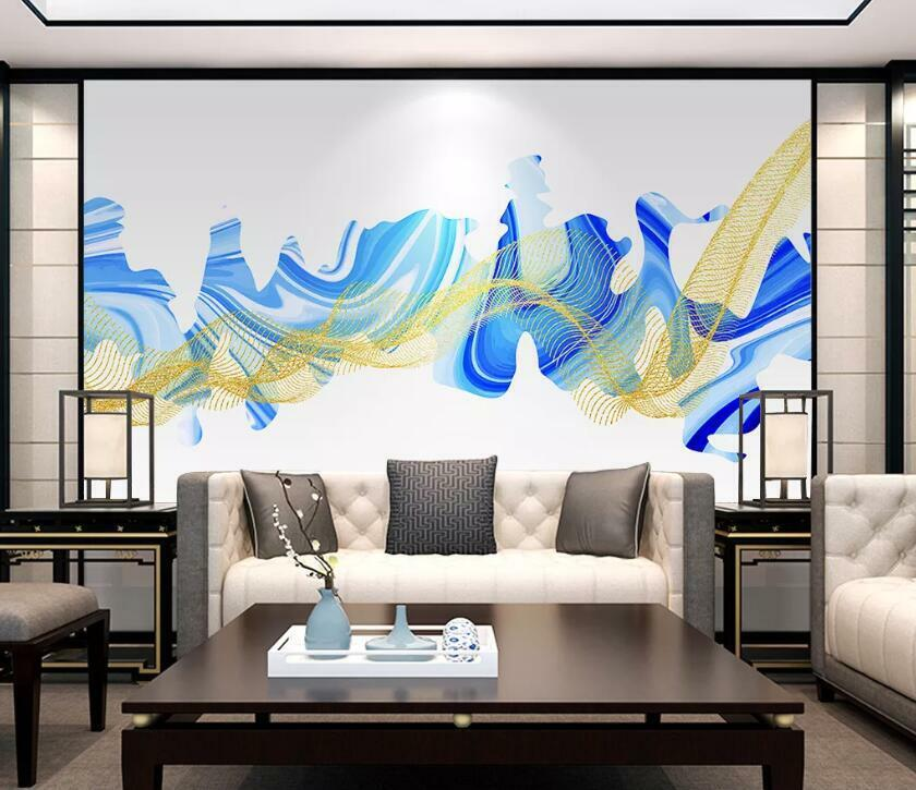 3D Blau Abstract N1817 Wallpaper Wall Mural Removable Self-adhesive Sticker Amy