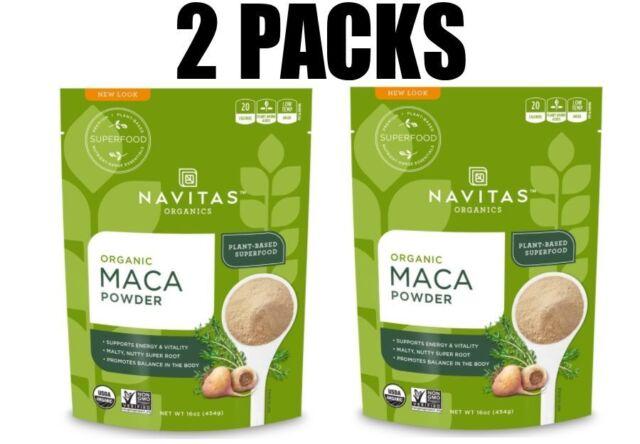 Maca Powder, Organic, 2 Pack, 16 oz (454 g) each by Navitas Organics