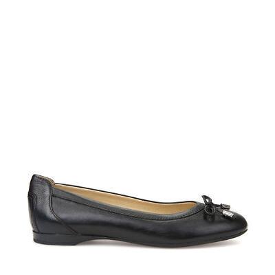 Geox Chaussures Femmes Ballerines en Cuir Noir avec Small Bow D825DD Ligne | eBay