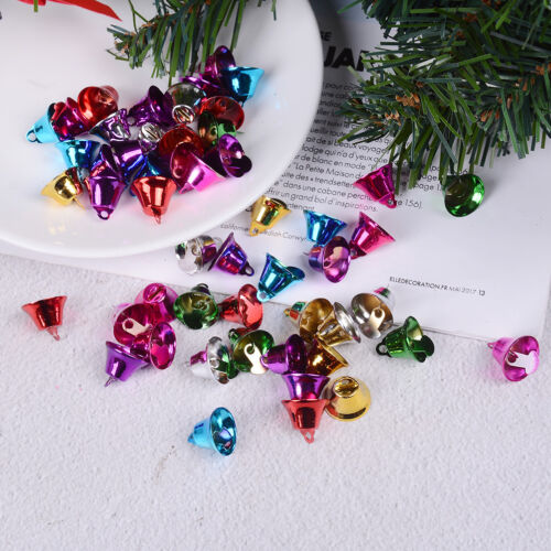 50 Mixed Color Christmas Jingle Bells Charms Pendants 16mm for Craft DIY ZJXJ