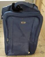 Koffer Trolley Reisekoffer Textil blau Stoff mit Rollen ca 20 x 40 x 58 cm