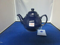 Genuine Cobalt Betty 4 Cup Tea Pot, Made In England, Red Clay Rockingham Glaze.