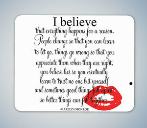 MARILYN MONROE BENEATH MAKE UP QUOTE MOUSE MAT MOUSE PAD COMPUTER PC GAMING GIFT