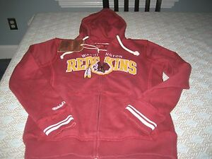 ccd442d9f Image is loading WOMENS-WASHINGTON-REDSKINS-MITCHELL-amp-NESS-HOODIE-SIZE-