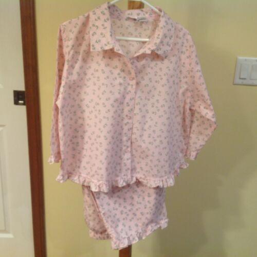 Women's Large SIMPLE PLEASURES Pink Floral Pajama