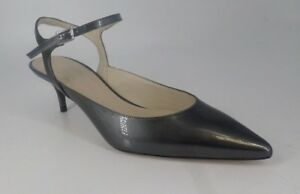 057aab9020 Karen Millen Strappy Pointed Toe Court Shoes Pewter UK 4.5 EU 37.5 ...