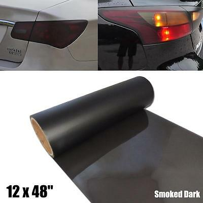 "12x48"" Black-Out Smoked Dark Tint Taillight Vinyl Wrapping Sheet Film Sticker"