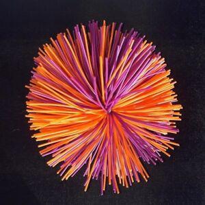 10 cm Koosh Style Stress Ball ~ Purple & Orange ~ Sensory, Autism, Tactile, ADHD