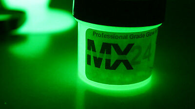 Glow in the Dark GREEN MX24 Extreme Paint, Daytime Invisible Range 4oz