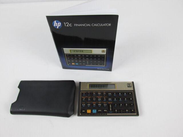 Hewlett Packard HP12C Financial Calculator w/ Soft Case & Quick start Guide