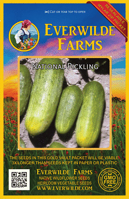National Pickling Cucumber Seed Heirloom Vegetable Garden Seeds 3gr or 10gr