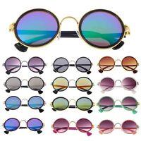 Cyber Punk Retro 90s Unisex Round Lens Sunglasses Steampunk Glasses Goggles LN