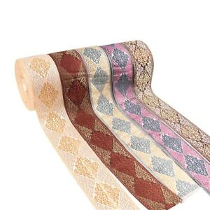 2Yard-roll-60MM-Embroidered-Ribbon-Jacquard-Ethnic-Style-Tape-DIY-Craft-Material