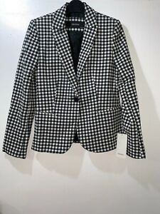 748 Jacket Check Black white Size Ref Zara New Blazer 7981 Ss18 M Gingham XvR4Bpxpwq