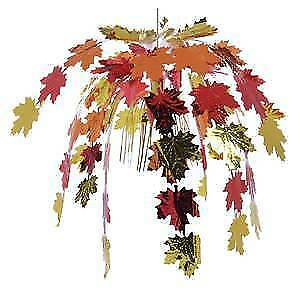 "Decoration Cascade Leaves Metallic Red//Orange//Gold 24/""L Foil 92379"