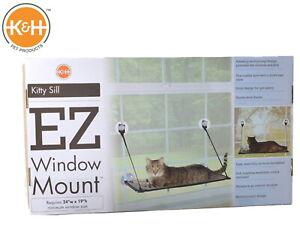 K-amp-H-KITTY-SILL-EZ-WINDOW-MOUNT-CAT-WINDOW-BED-SUCTION-TECHNOLOGY-9091