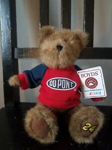 """Boyds Bears Nascar 10/"""" Jeff Gordon  # 24 With Cap and Sweatshirt and Tag"""