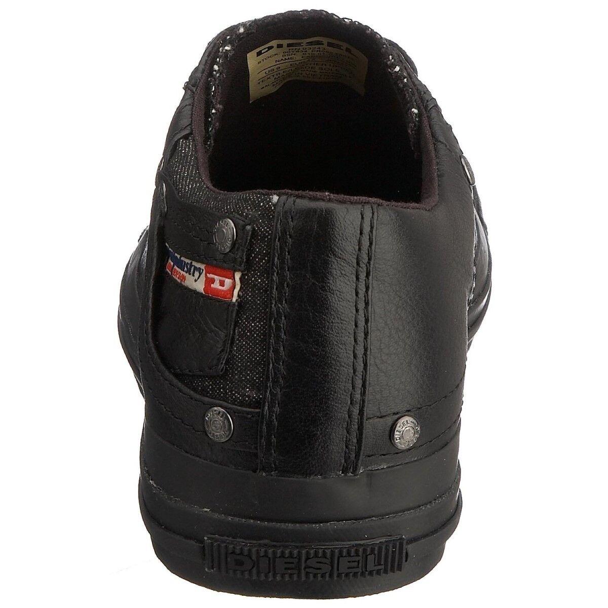 Diesel Exposure Low Top Herren Leder Sneaker Chucks Sport Schuhe Turnschuhe