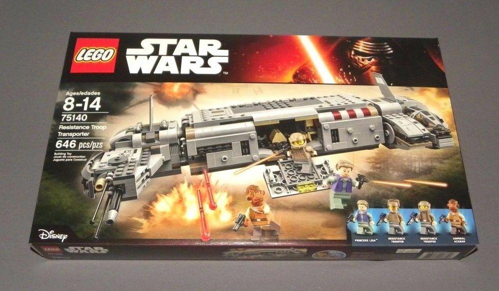 LEGO 75140 RESISTANCE TROOP TRANSPORTER estrella guerras SET NEUF nuovo