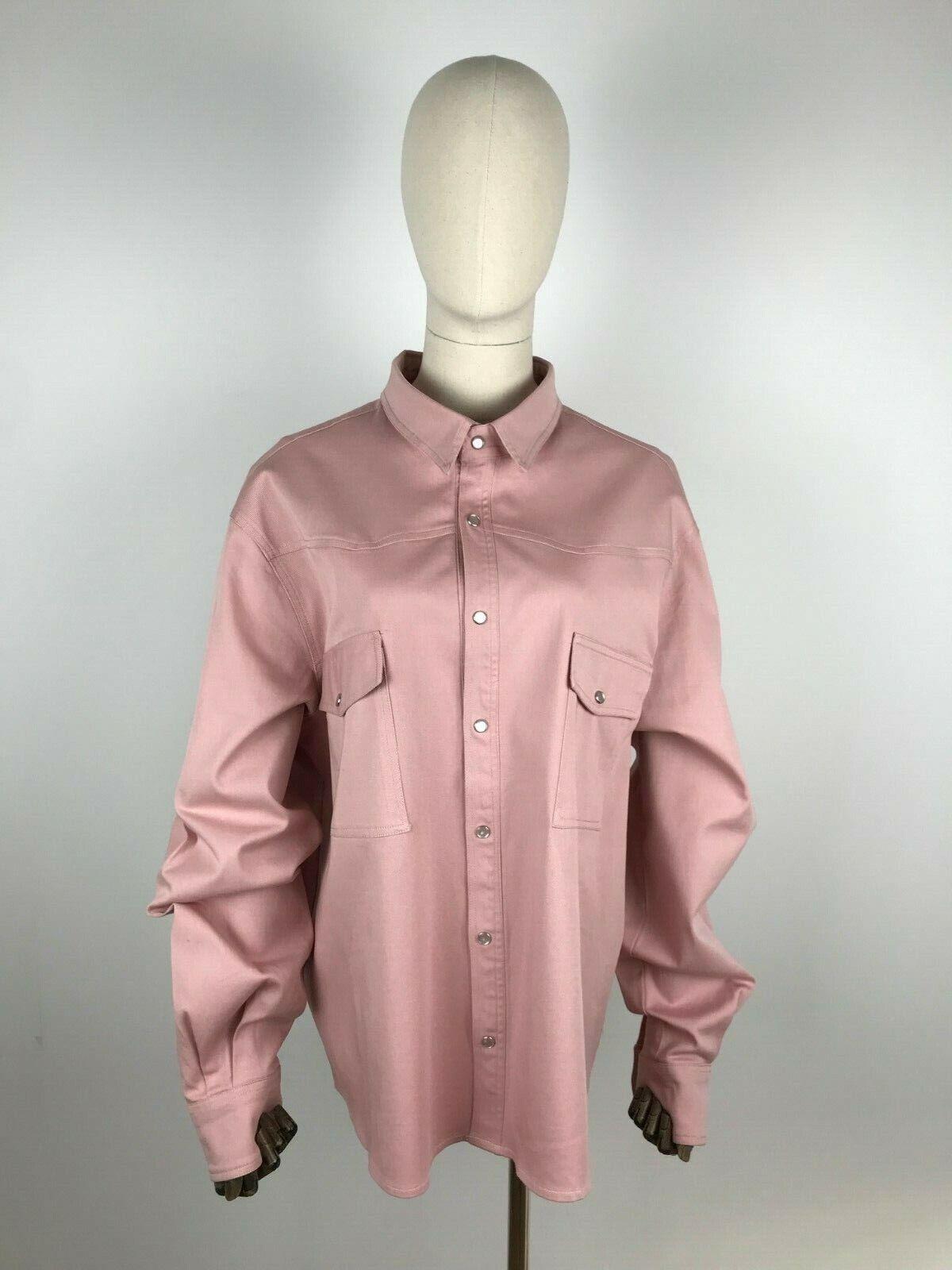 Damen Woman CHAFOR JeansBlause Jeanshemd Hemd Denim Blouse Shirt Rosa Rosa 56