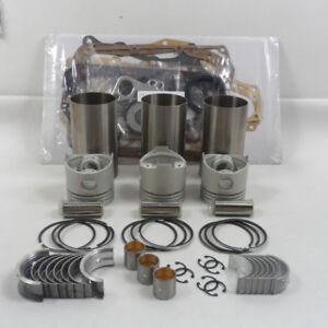 fit MITSUBISHI K3M Engine Overhaul Rebuild Kit,Piston Ring Gasket Bearing