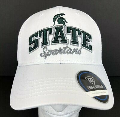 latest fashion new authentic various design Michigan State Spartans White & Green 3D Top of the World Hat ...