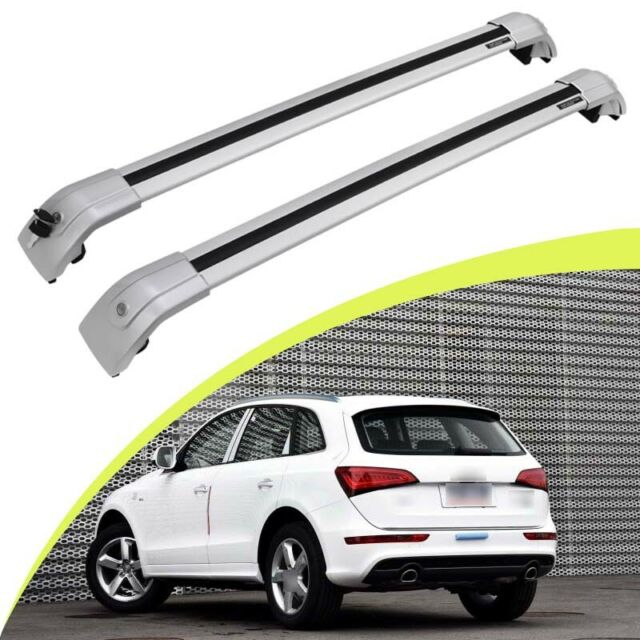 Silver Lockable Cross Bar For Audi Q5 2018-2020 Baggage