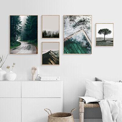 Palm Tree Sunset Canvas Landscape Poster Nordic Wall Art Print Modern Decoration