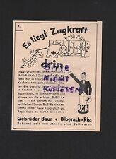 BIBERACH-RISS, Werbung 1931, Gebrüder Baur BaBi-Artikel