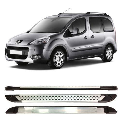 Peugeot Socio Tepee pasos del lado de aluminio que ejecutan placas 2008 en adelante