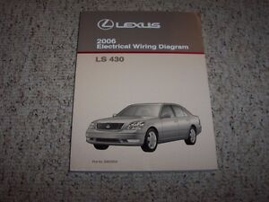 2006 lexus ls430 ls 430 factory original electrical wiring diagram rh ebay com 2001 2 Door Lexus Wheels for 2001 Lexus LS430