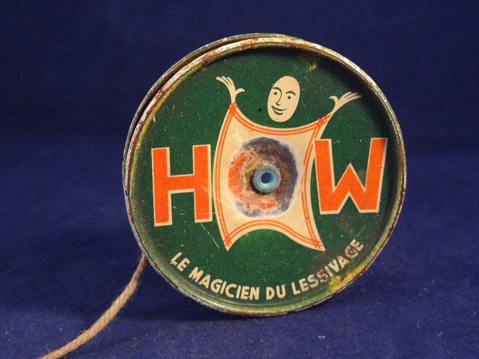 Ancien jouet publicitaire Yo-yo tôle lessive HOW le magicien magicien magicien du lessigae an. 50 a34e63
