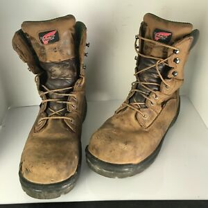 Red Wing 2280 Mens King Steel Toe Work Boots Brown Lace Up Waterproof 10.5 2E