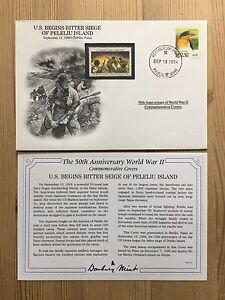 DANBURY-MINT-WORLD-WAR-2-WW2-PALAU-1994-FDC-PELELIU-ISLAND-SIEGE-US-MARINES