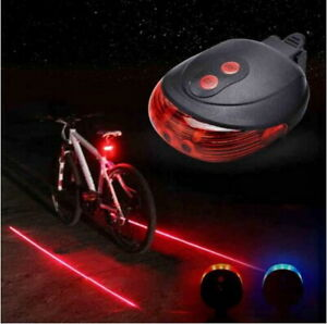 5 LED Rear Cycling Bicycle Bike Tail Safety Warning Flashing Lamp`Light 2 Laser
