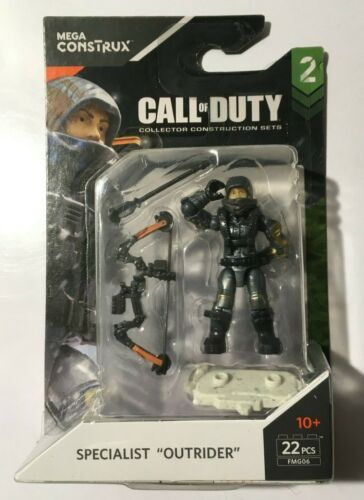 """MEGA CONSTRUX CALL OF DUTY SPECIALIST /"""" OUTRIDER /"""" minifigure FMG06 SERIES 2"""