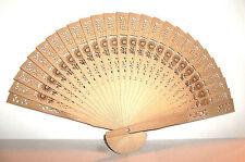 Japanese Hand Held Folding Laser Cut Bamboo Wood Fan