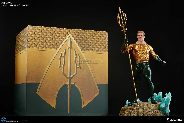 DC Comics JLA AQUAuomo CON FORCONE   Arthur Curry Premium Format Sidemostrare Statue  garanzia di credito